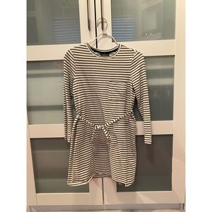 TOPSHOP striped shirt dress